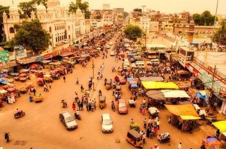 Straßenszene Indien