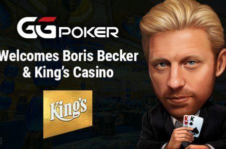 Boris Becker, Spielkarten, GGpoker King´s Casino Logo
