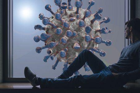 Mann am Fenster, Virus