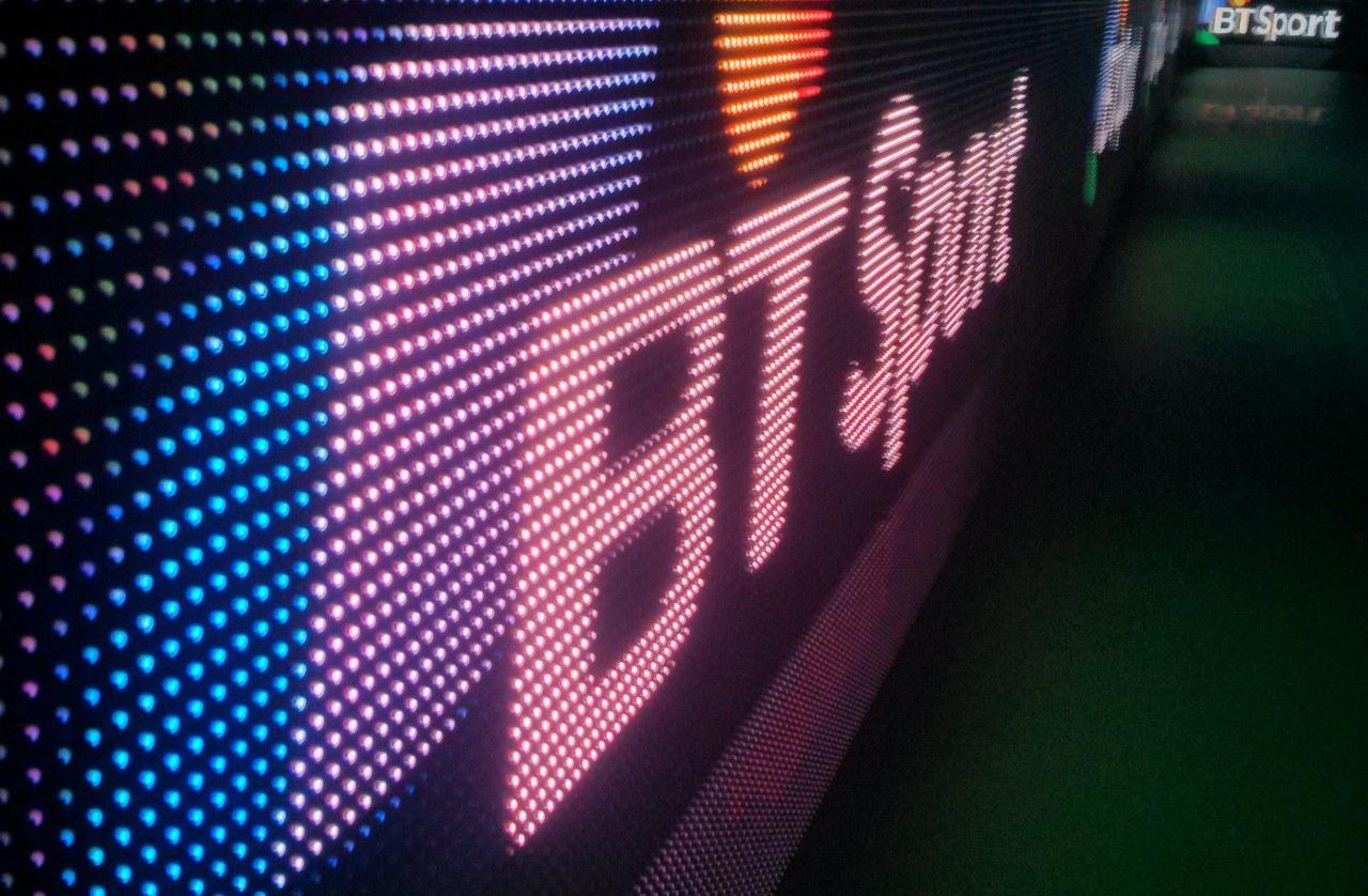 BT Sport, LED-Schriftzug