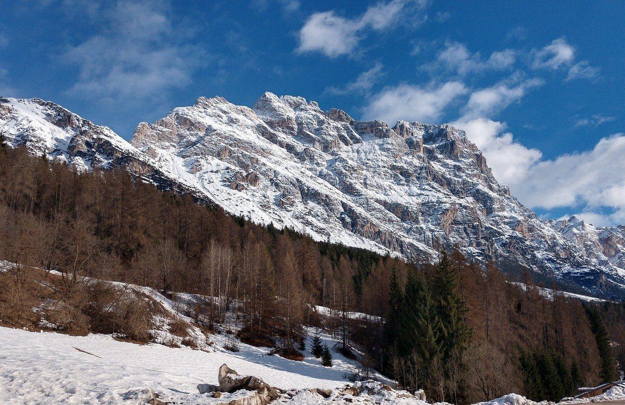 Cortina d'Ampezzo, Italien, Berge, Skigebiet
