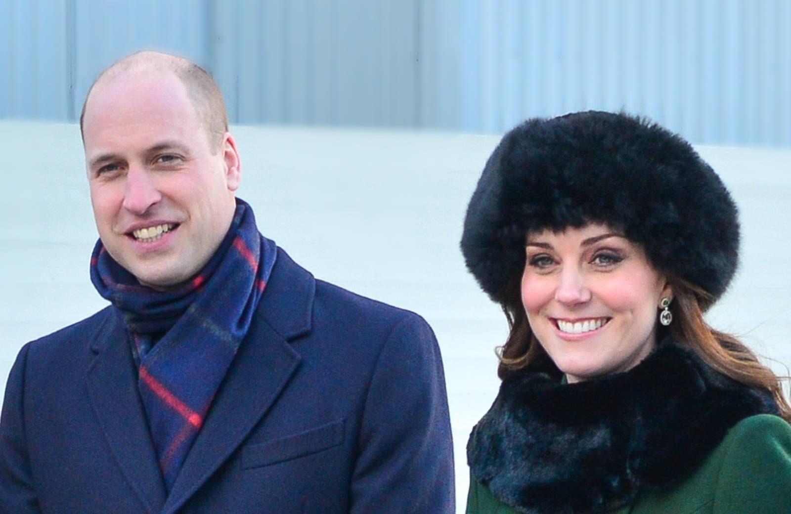Herzogin Kate und Prinz William im Winter