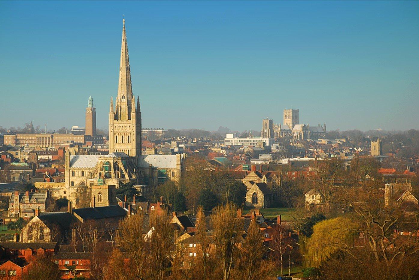 Blick auf Norwich