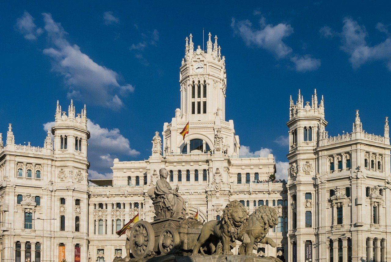 Madrid, Spanien, Plaza de Cibeles