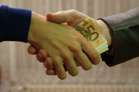 Hände, Handschlag, Geld, Euro