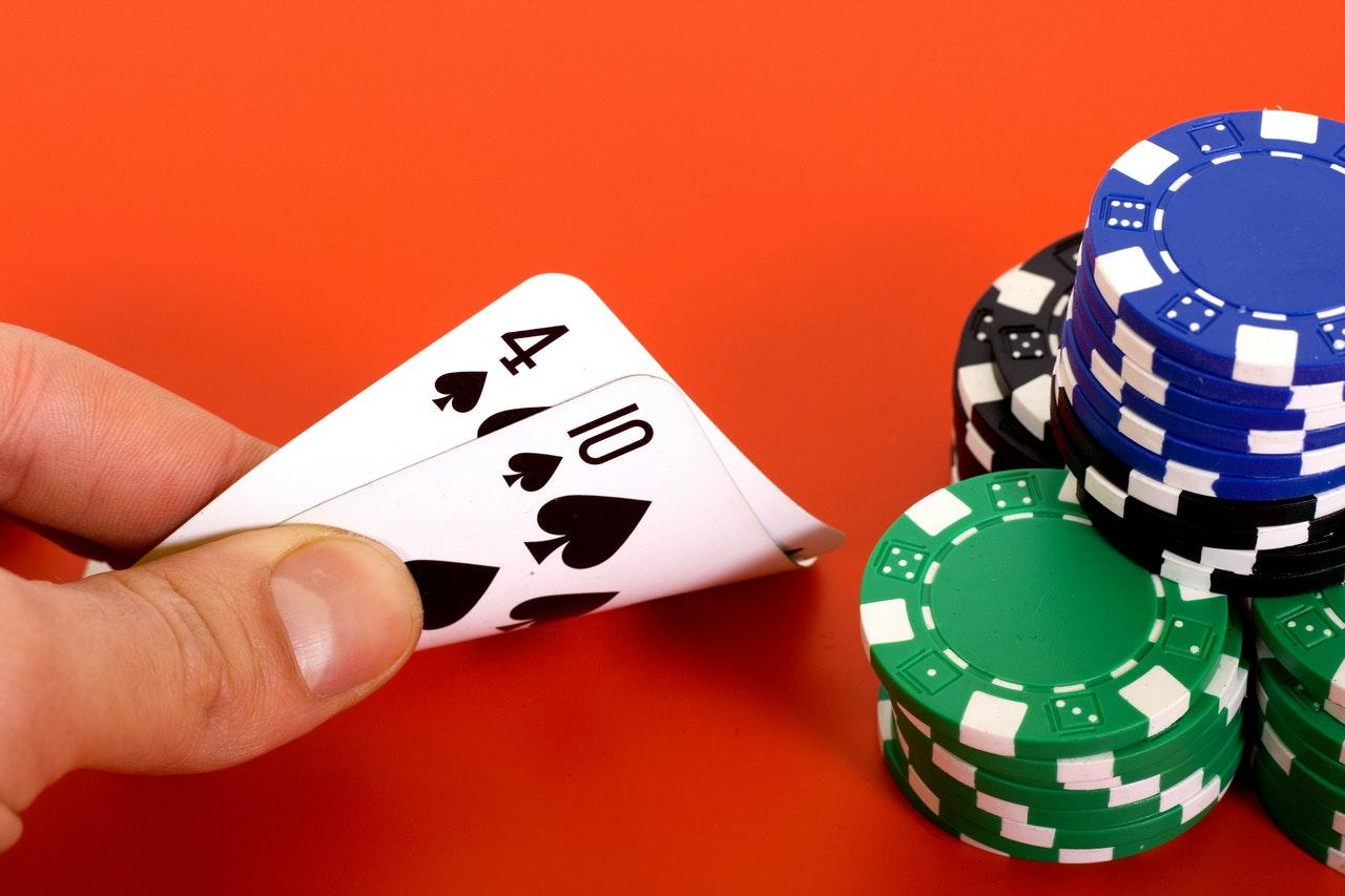 Hand, Spielkarten, Chips