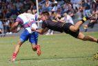 zwei Männer, Rugby, Spielfeld