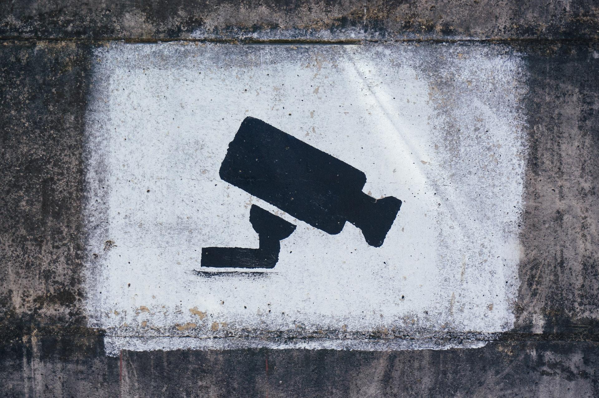 Ueberwachungskamera Graffiti