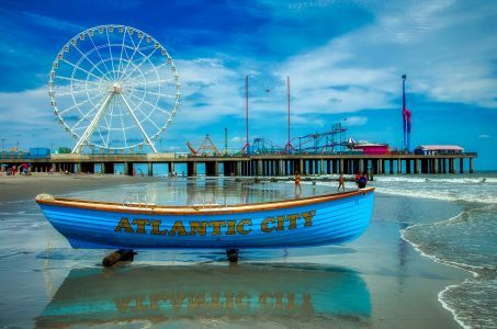 Boot, Riesenrad, Atlantik City, Meer