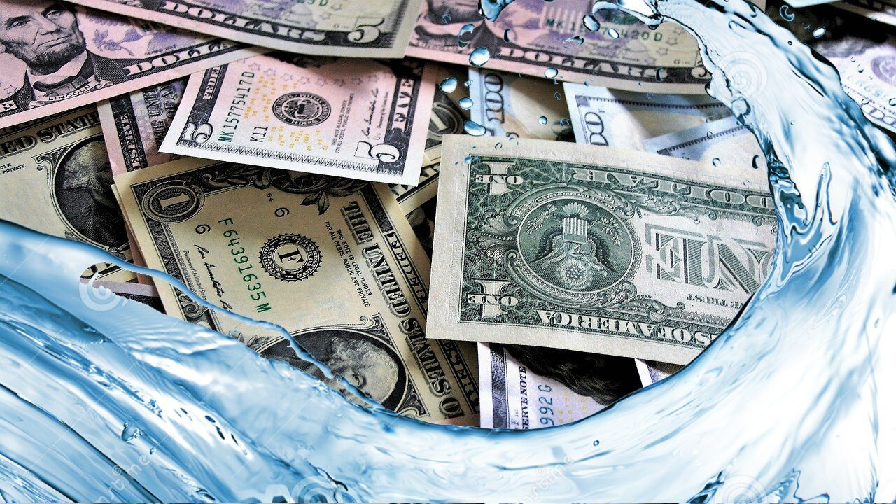 Banknoten, Wasser