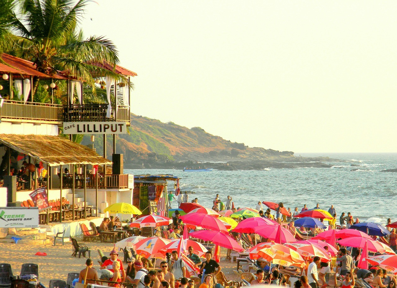 Goa, Bar, Strand, Menschen