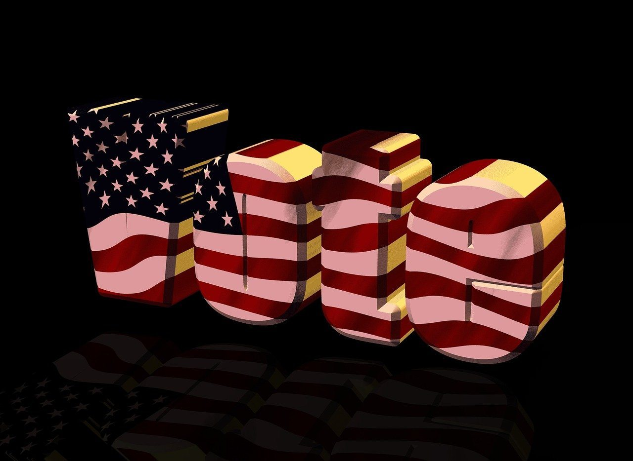 vote, US-Flagge