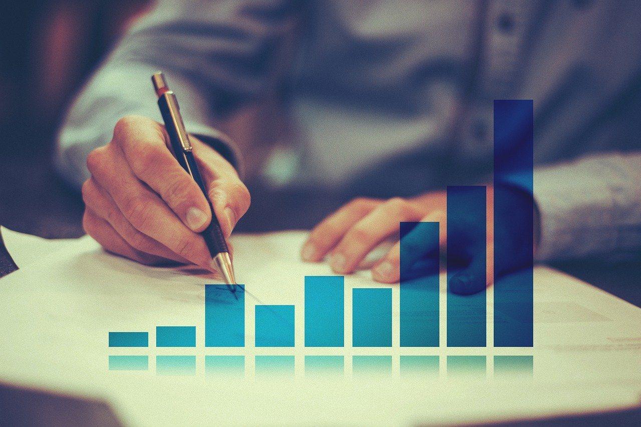 Mann, Stift, schreiben, Statistik