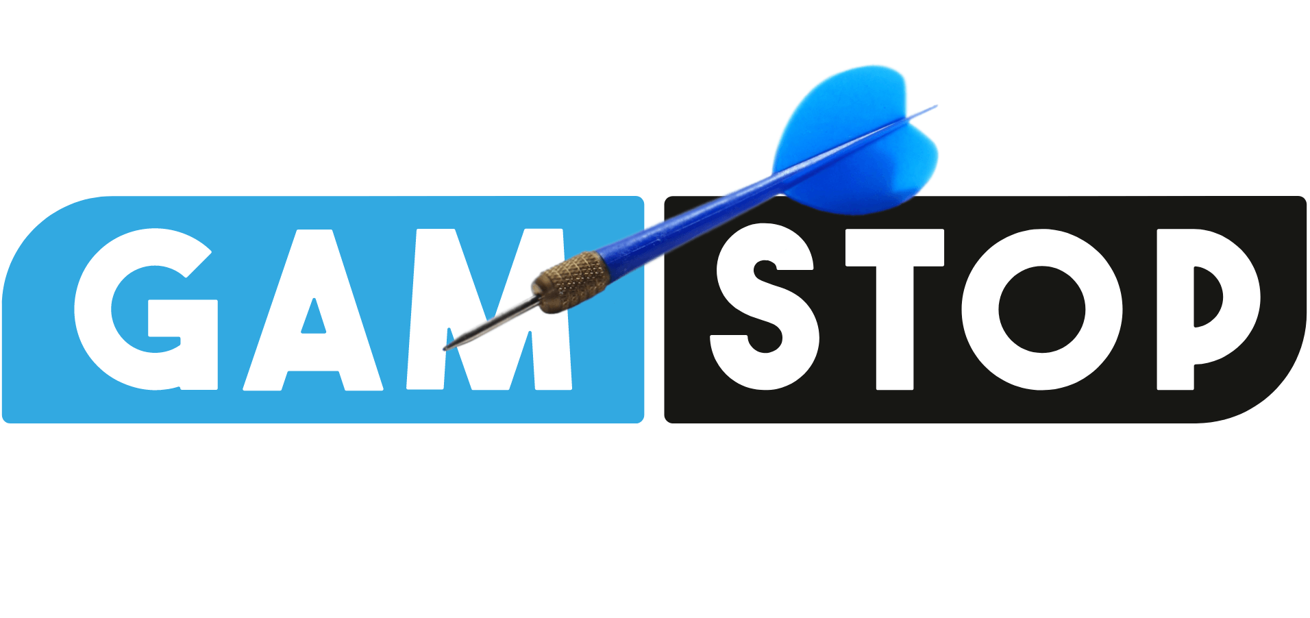 GAMSTOP Logo, Dartspfeil