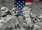 USA Flagge, Donald Trump, Mount Rushmore National Memoria