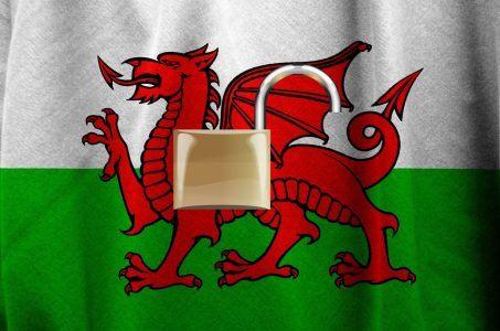 Wales Flagge, Schloss