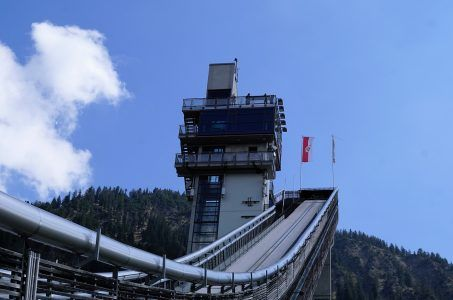 Skispringen Schanze Oberstdorf