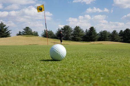 Golfball Rasen Fahne