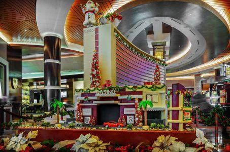 Gebäude, Casino, Weihnachtsmann, Dekoration