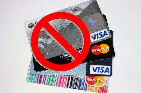 Verbot Kreditkarten