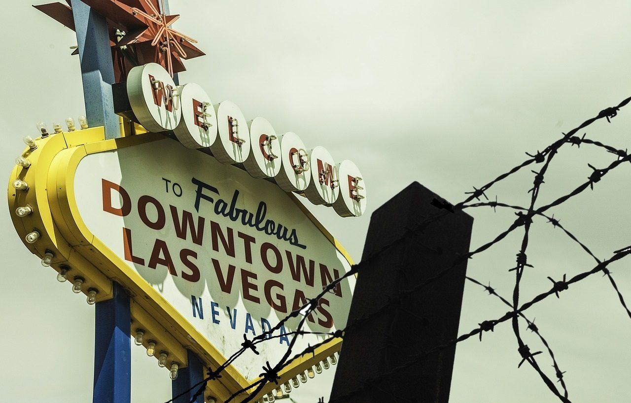 Las Vegas Sign, Stacheldrahtzaun