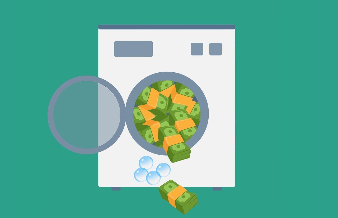 Waschmaschine, Geldscheine