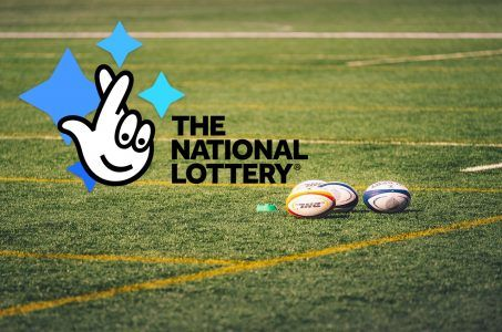 National Lottery Logo, Rasen, Rugby-Bälle
