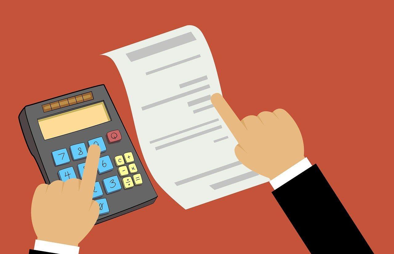 Taschenrechner, Hand, Papier