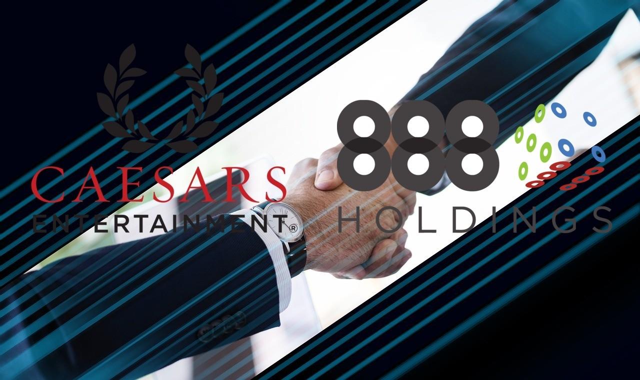 Händeschütteln, 888 Logo, Caesars Logo