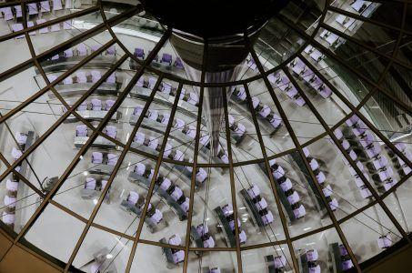 Blick von oben in den Bundestag