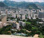 Blick auf Stadt auf Hawaii