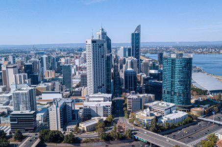 Blick auf Perth Australien