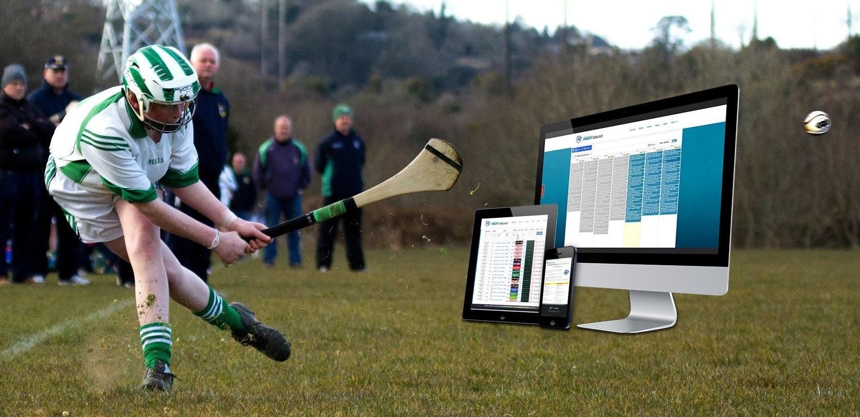 Hurling-Spieler, PC, Tablet