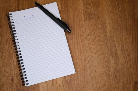 To-Do-Liste, Block, Stift