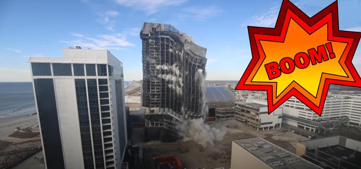 Trump Plaza Hotel, Gebäude, Explosion
