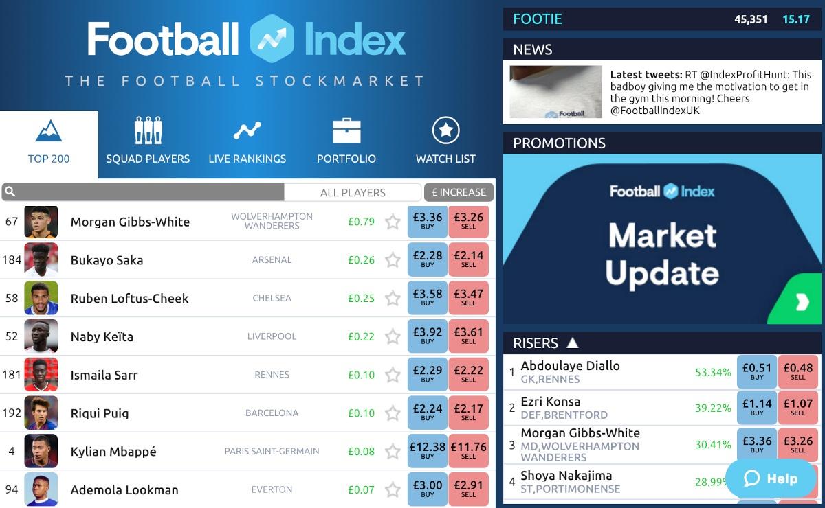 Screenshot Football Index