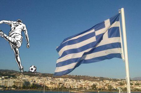 Flagge Griechenland, Fußballspieler, Stadt