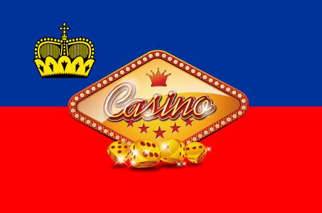 Casino Sign, Liechtenstein Flagge