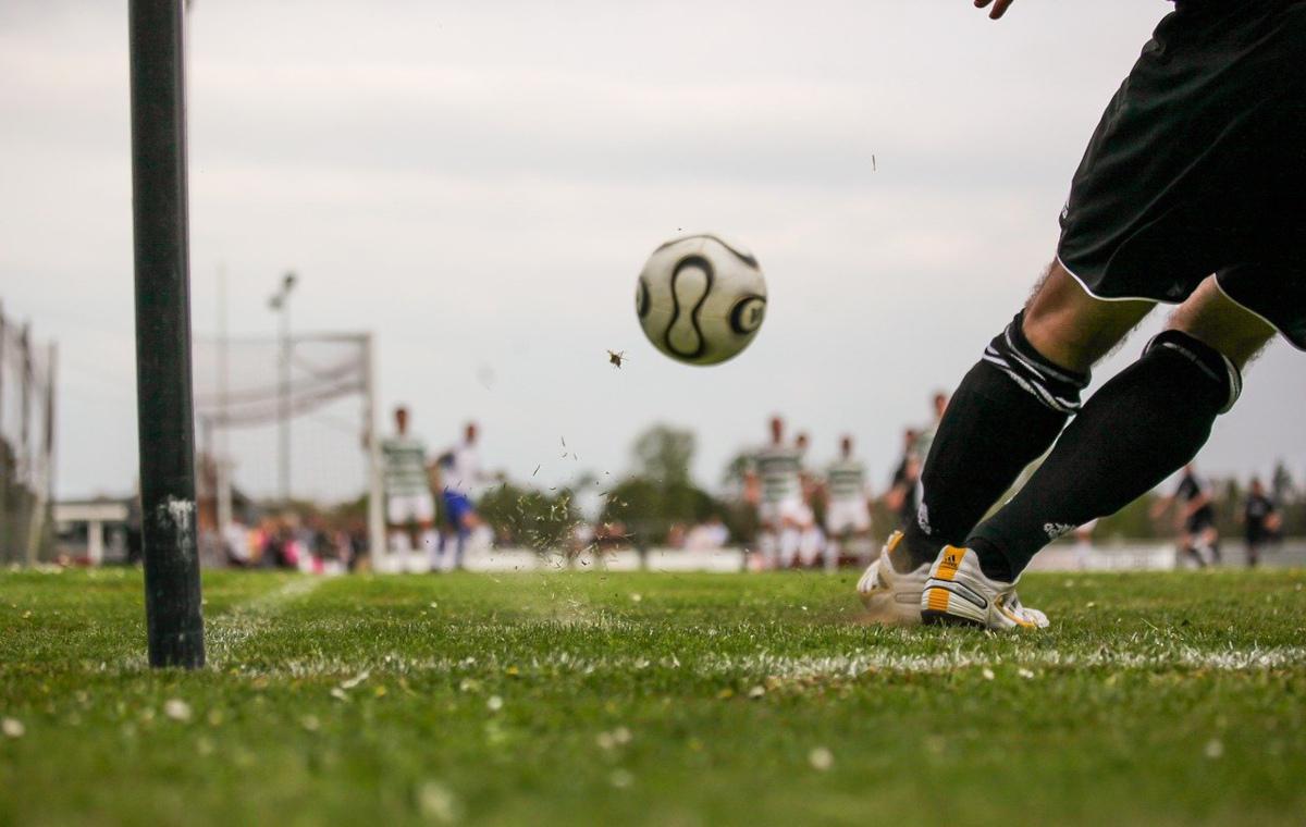 Fußball Spieler Ecke