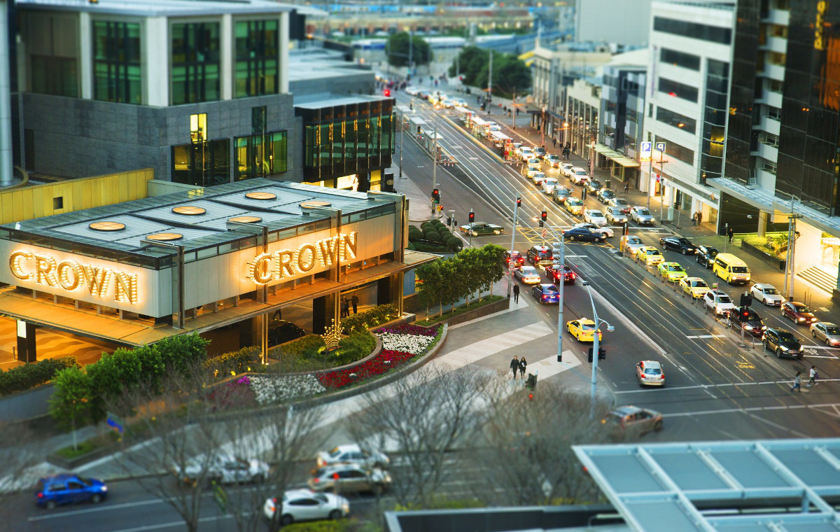 Crown Casino Straße Gebäude