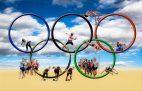 Olympische Spiele sind das Ziel vieler E-Sportler (Bild: Pixabay/Gerhard G) Olympische Ringe, Sportler