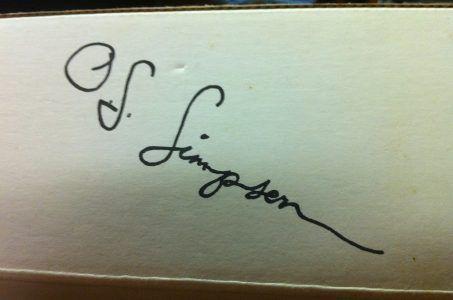 O.J. Simpson Autogramm
