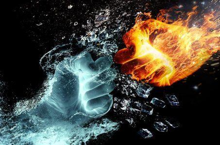 Fäuste aus Feuer und Wasser