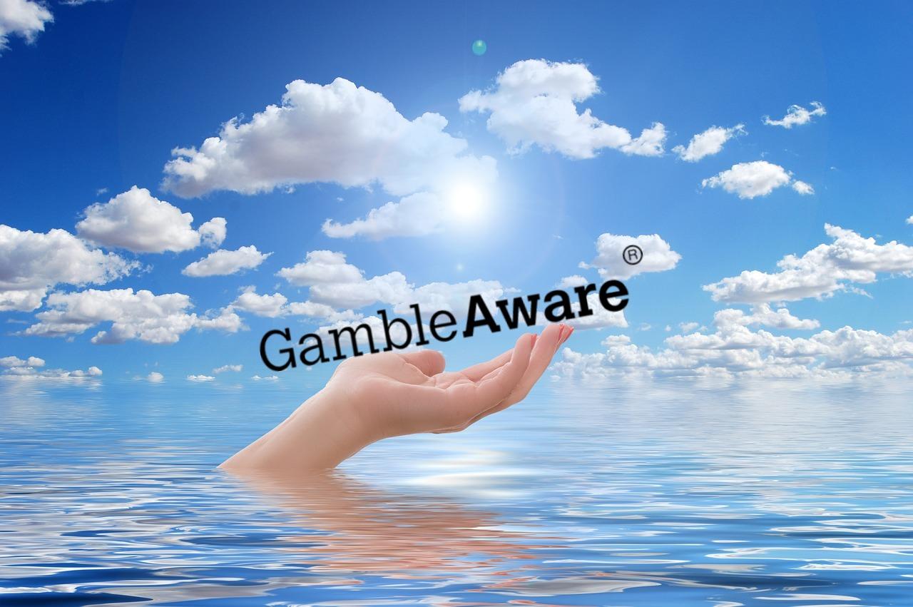 Hand, Wasser, GamgleAware Logo