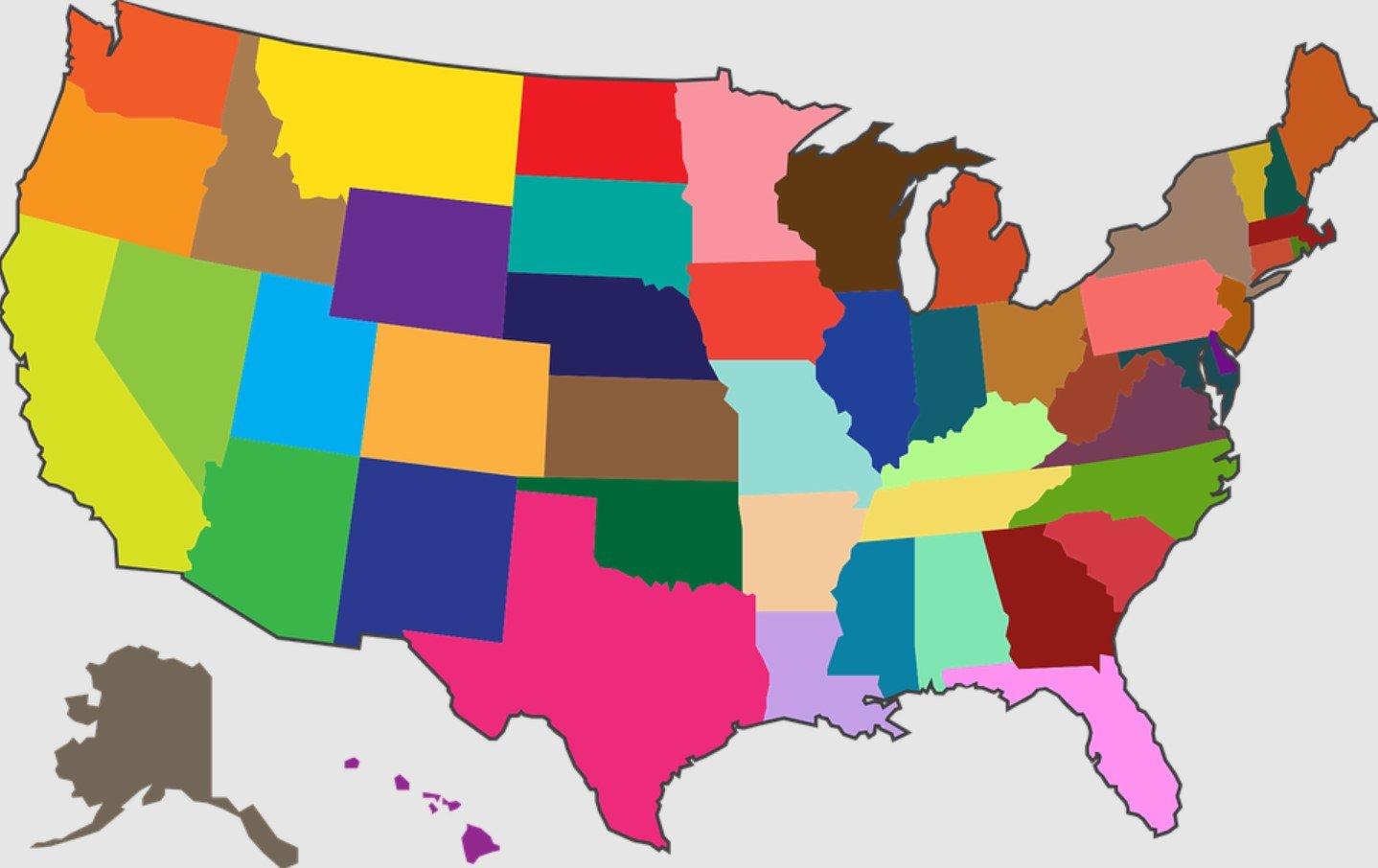 USA Staaten Grafik