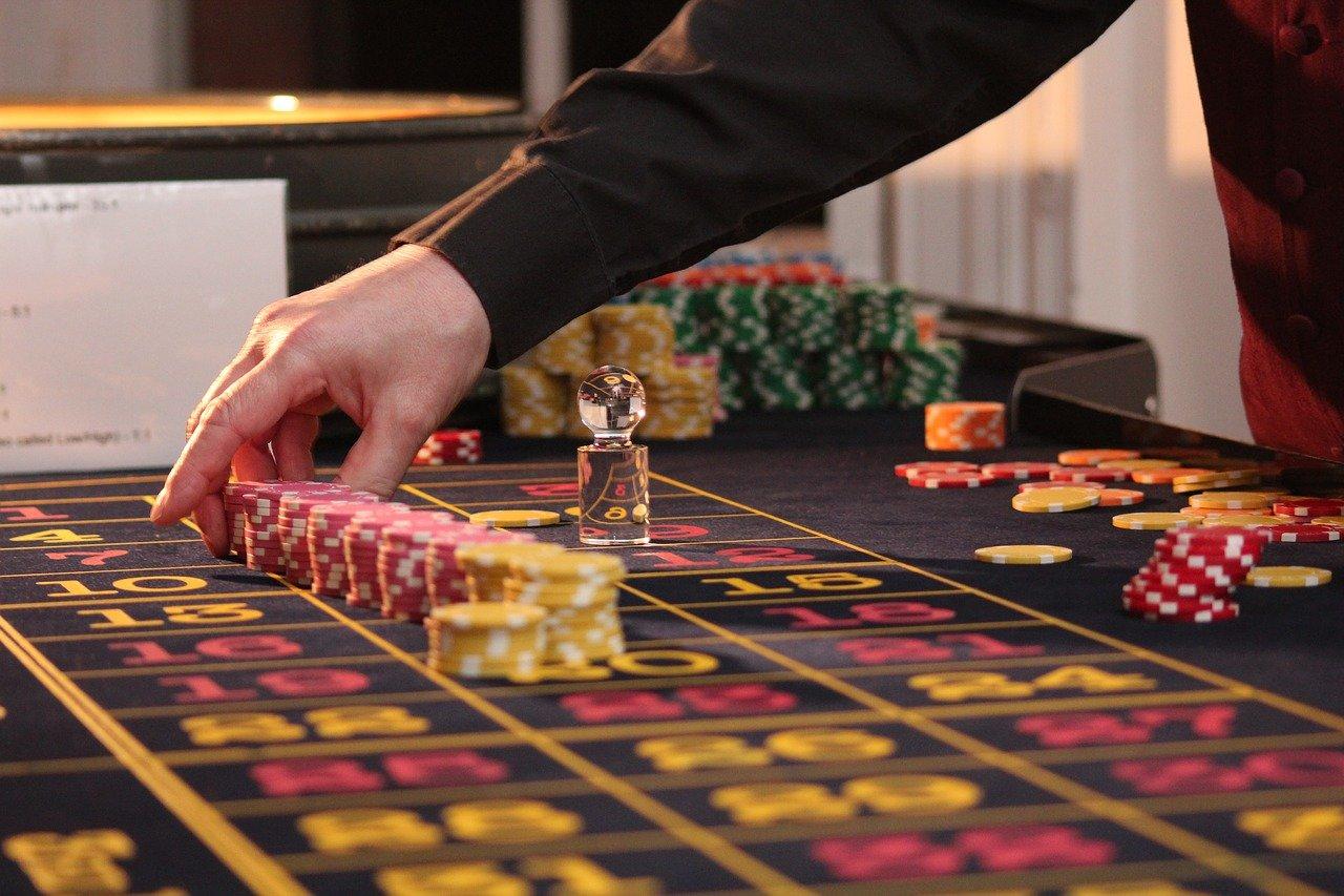Roulettetisch Croupier