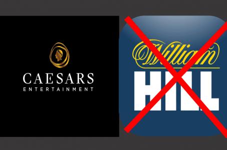 Caesars Logo, William Hill Logo, rote Balken