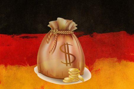 deutsche Flagge, Geldsack, Münzen