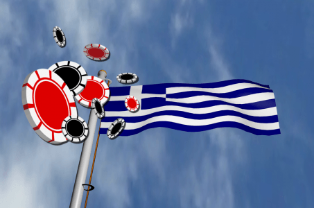 griechische Flagge, Chips