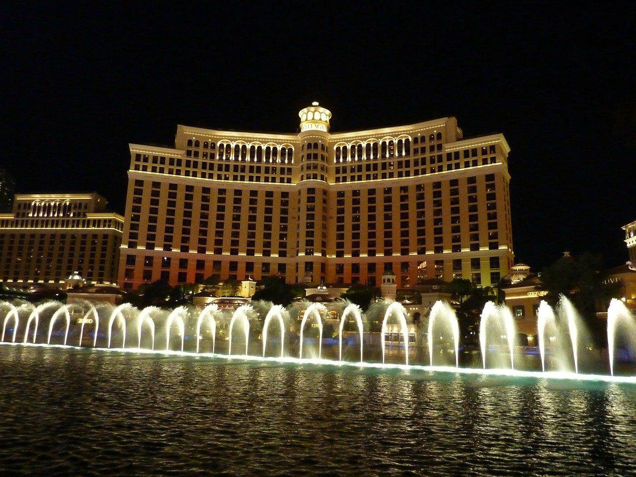Las Vegas Bellagio Casino Springbrunnen